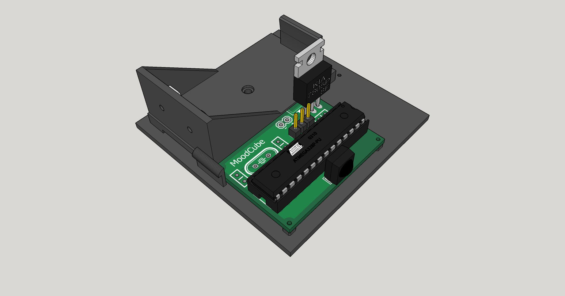 How To Turn An Arduino Based Proof Of Concept Into A Final Prototype Circuit Board Pcb For The Main Project In Book 39robot Building Moodcube2